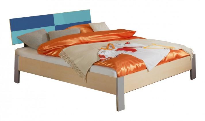 Klasická postel Sunny - Postel, 140x200 cm (námořní modř)