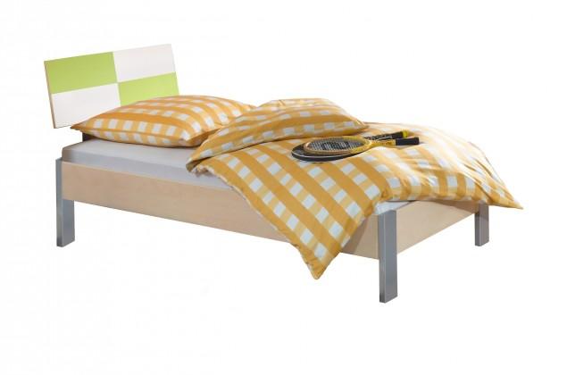 Klasická postel Sunny - Postel, 90x200 (zelené jablko/alpská bílá)