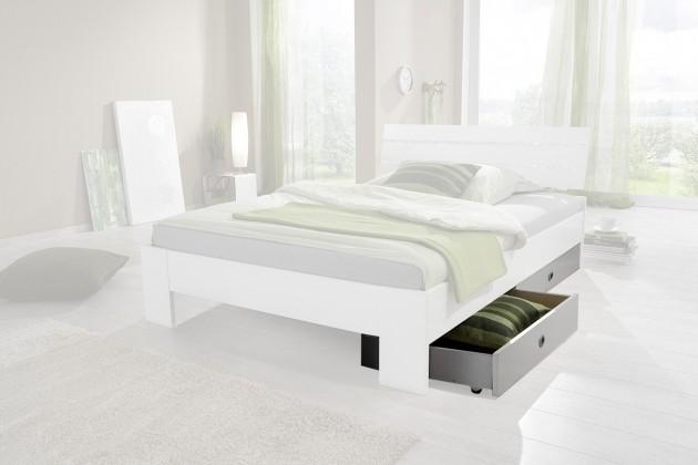 Klasická postel Úložný prostor k posteli Nightlight (bílá, křišťálové kamínky)