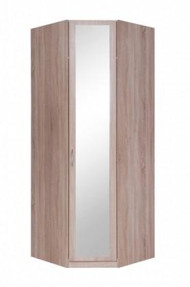 Klasická Rohová skříň Cassanova - 1x dveře se zrcadlem