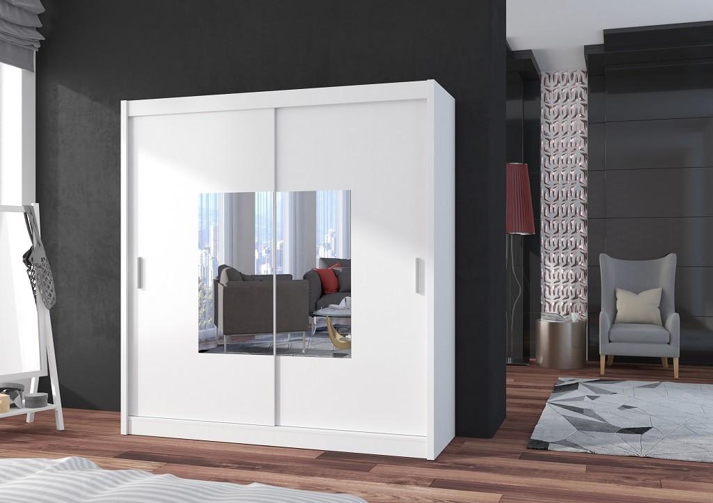 Klasická Šatní skříň Eira - 203x215x61 (bílá)