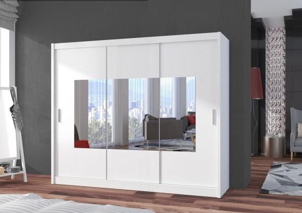 Klasická Šatní skříň Eira - 250x215x61 (bílá)