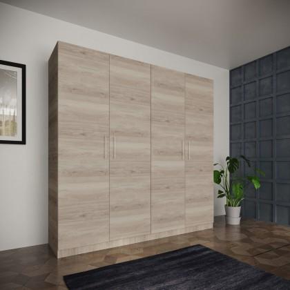Klasická Šatní skříň Paluda - 205x204x52 cm (sonoma arwen)