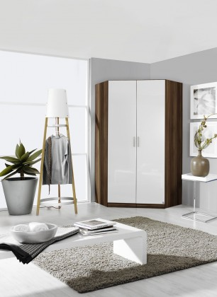 Klasická Šatní skříň rohová Celle, 2x dveře