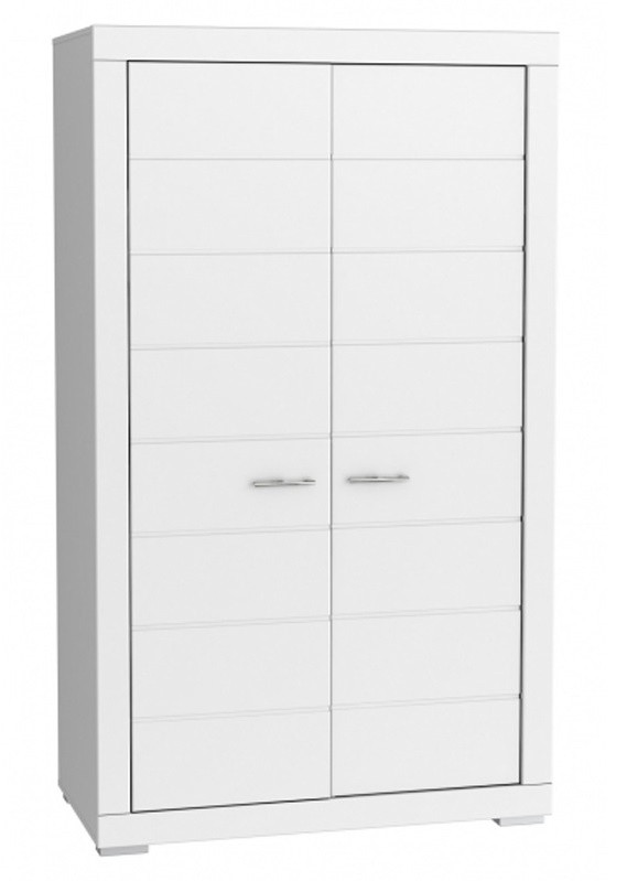 Klasická Šatní skříň Snow, 2x dveře (Bílá)