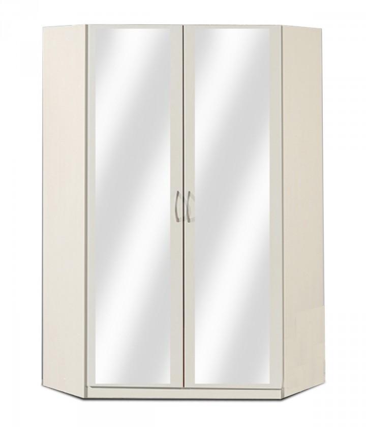 Klasická Sprint - rohová skříň,175 cm,2x zrcadlo (alpská bílá)