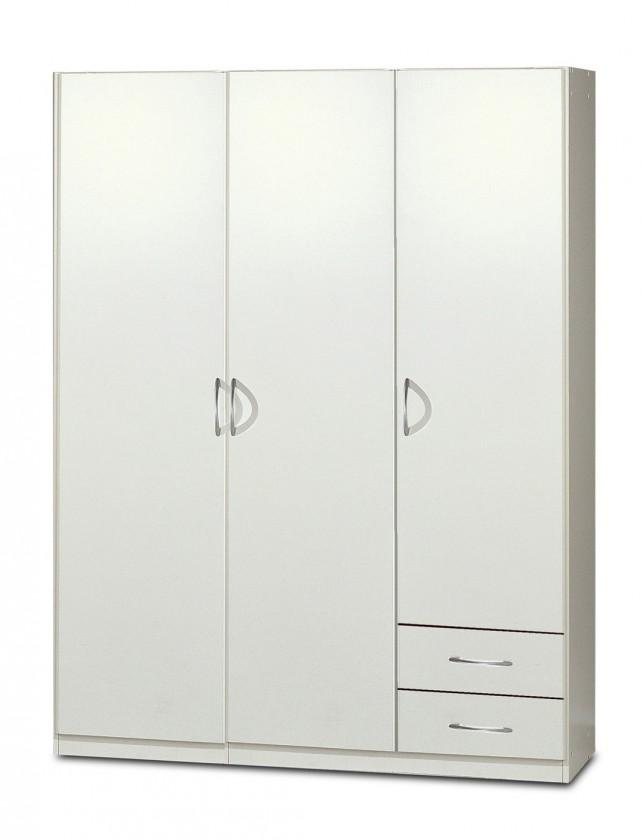 Klasická Sprint - skříň 135 cm,3x dveře,3x police (alpská bílá)