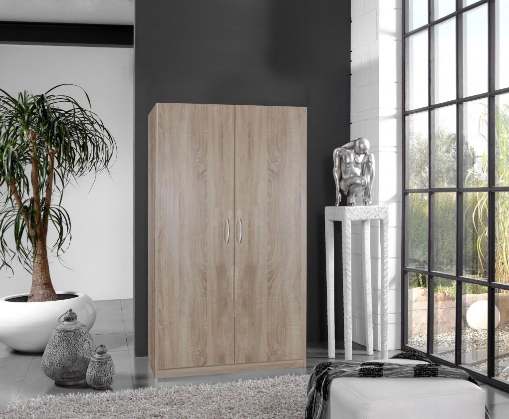 Klasická Sprint - skříň 175x90 cm,2x dveře (dub hrubá struktura)