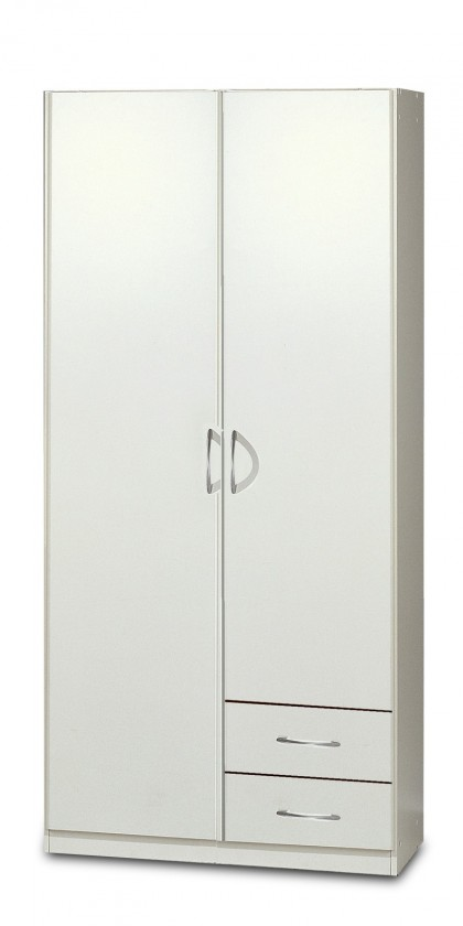 Klasická Sprint - skříň 90 cm,2x dveře,2x zásuvka (alpská bílá)