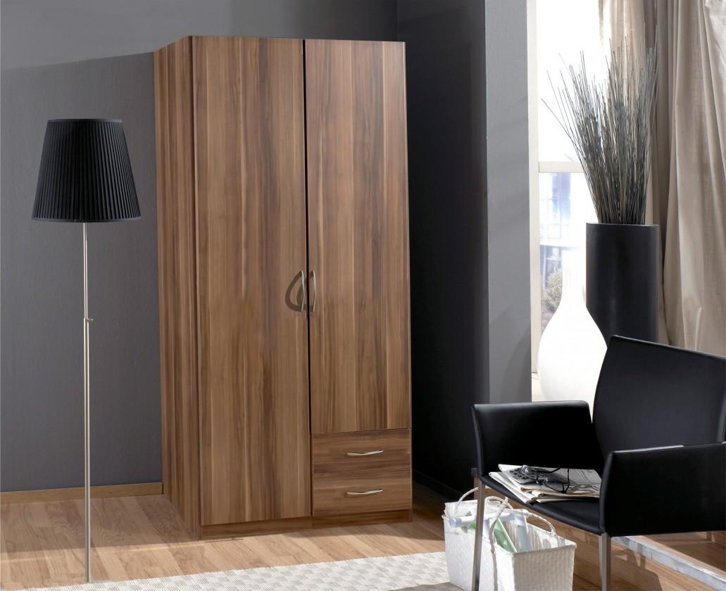 Klasická Sprint - skříň 90 cm,2x dveře,2x zásuvka (francouzský ořech)