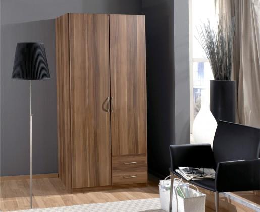Klasická Sprint - skříň 90 cm,2x dveře,3x police (francouzský ořech)