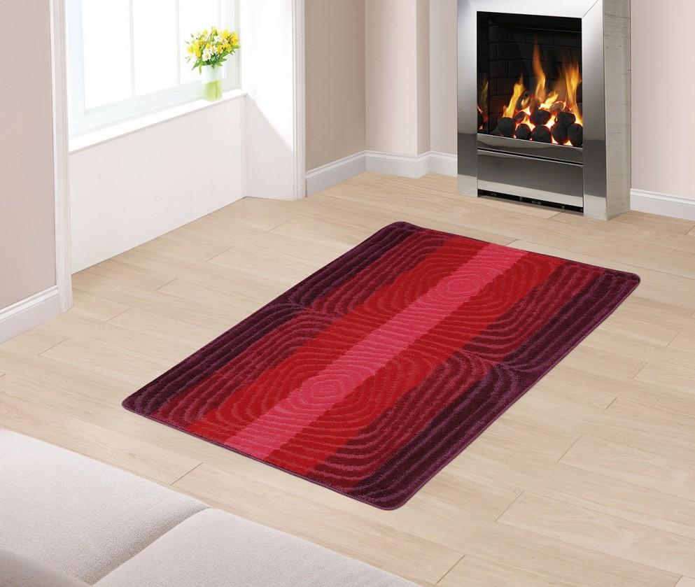 Koberec běhoun 80x150 (červená spirála)