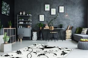 Koberec Black & white (160x230 cm, bílá)