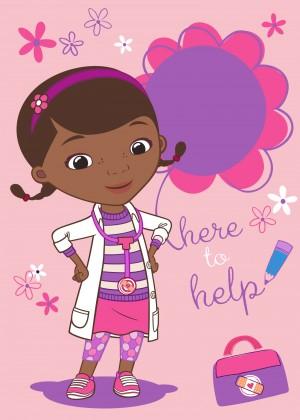 Koberec Disney Doc McStuffins-03 Doc to Help, 95x133cm (růžová)