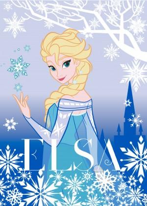 Koberec - Disney Frozen - 02 Elsa, 95x133 cm (modrá)