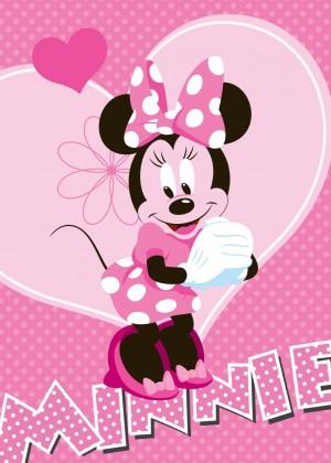 Koberec - Disney Minnie - 23 Minnie Flower, 95x133 cm (růžová)