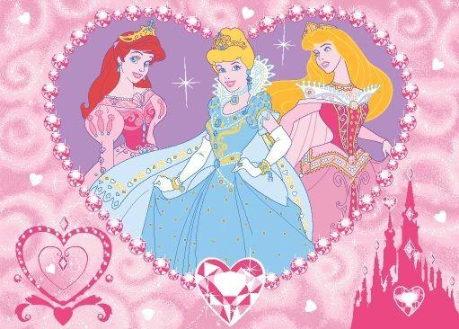 Koberec - Disney Princess-19 Princess Jewels, 95x133cm (růžová)