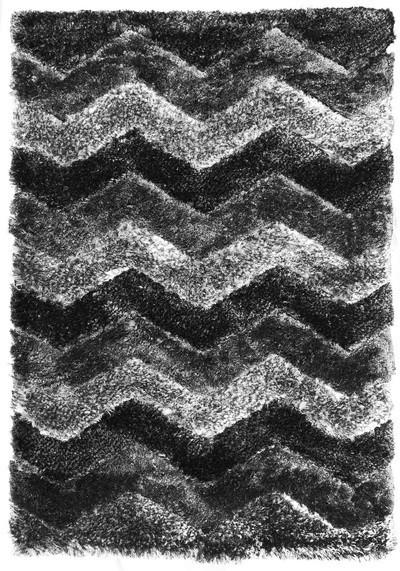 Koberec - Istanbul S3640, 140x200 cm (šedočerná)