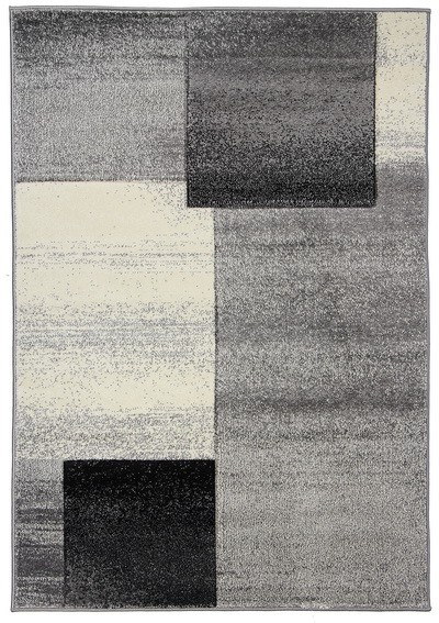 Koberec - Joy de luxe L127/7182, 120x170 cm (šedočerná)