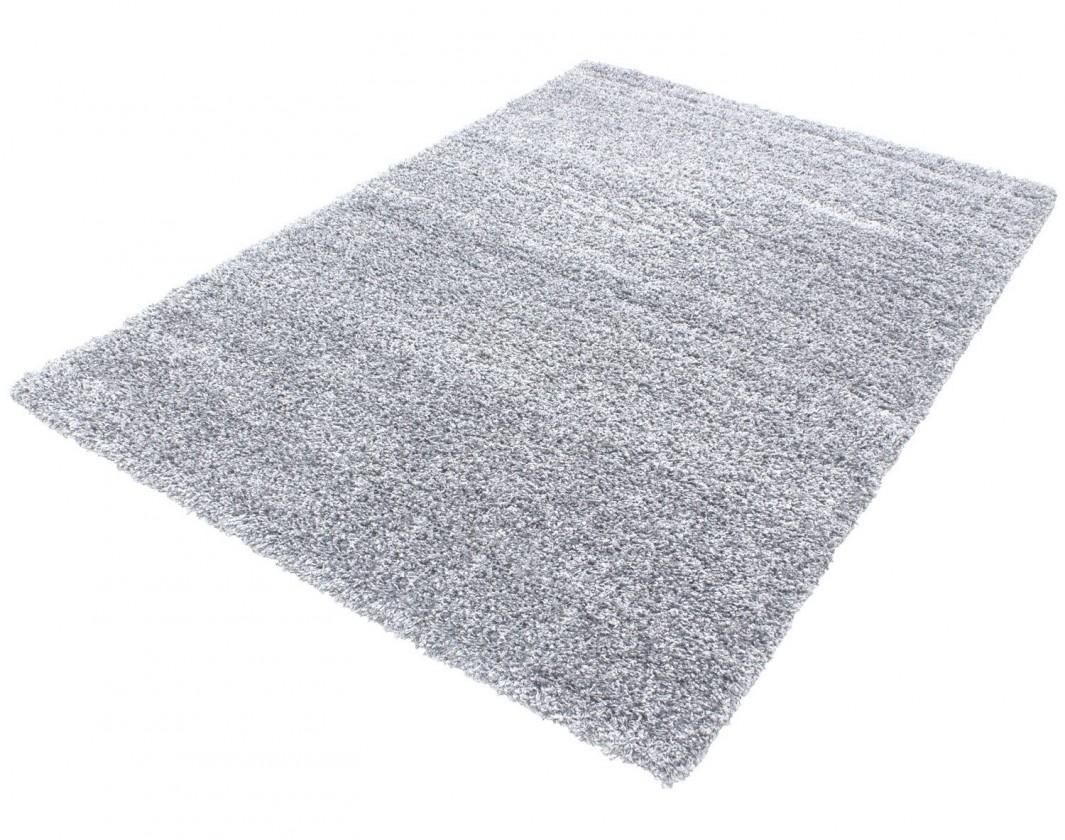 Koberec - Life shaggy 1500, 80x250 cm (světle šedá)