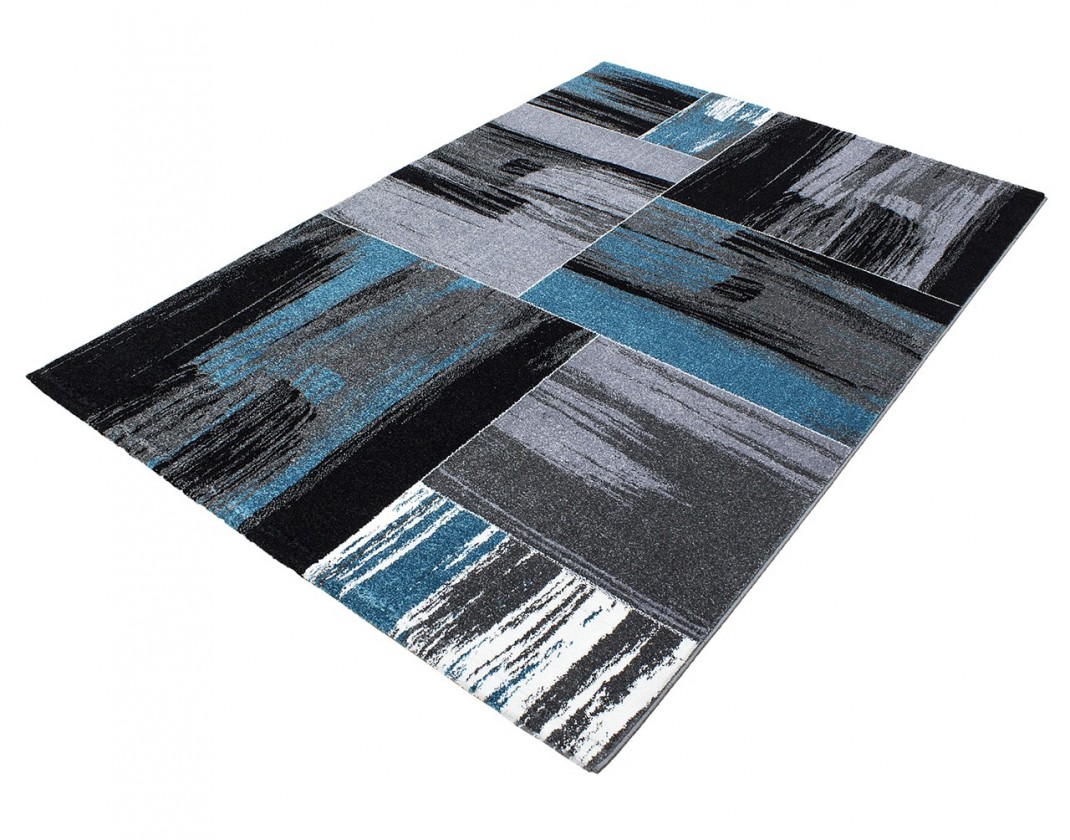 Koberec - Lima 1350, 120x170 cm (černá, šedá, modrá)