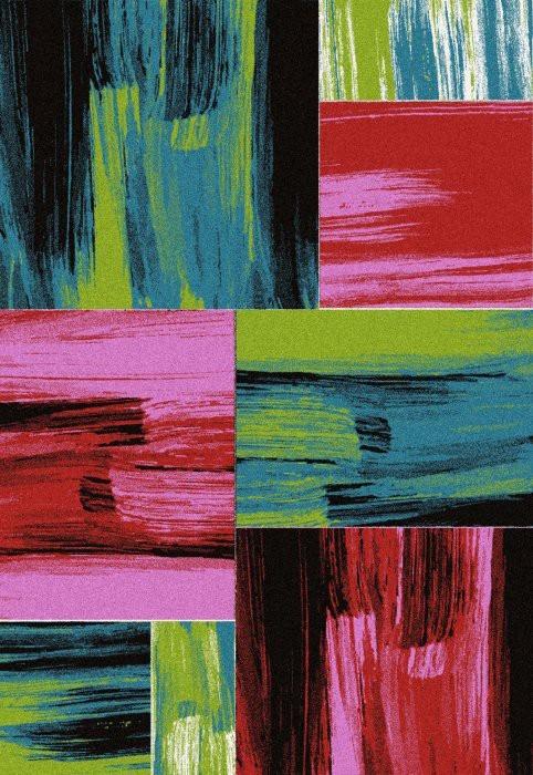 Koberec - Lima 1350, 160x230 cm (červená, zelená, růžová, černá)