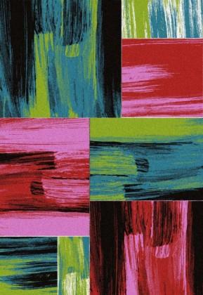 Koberec - Lima 1350, 80x300 cm (červená, zelená, růžová, černá)