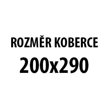 Koberec - Miami 6530, 200x290 cm (bíločerná)