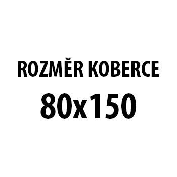Koberec - Miami 6540, 80x150 cm (bíločerná)