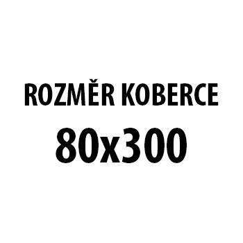 Koberec - Parma 9210, 80x300 cm (bíločerná)