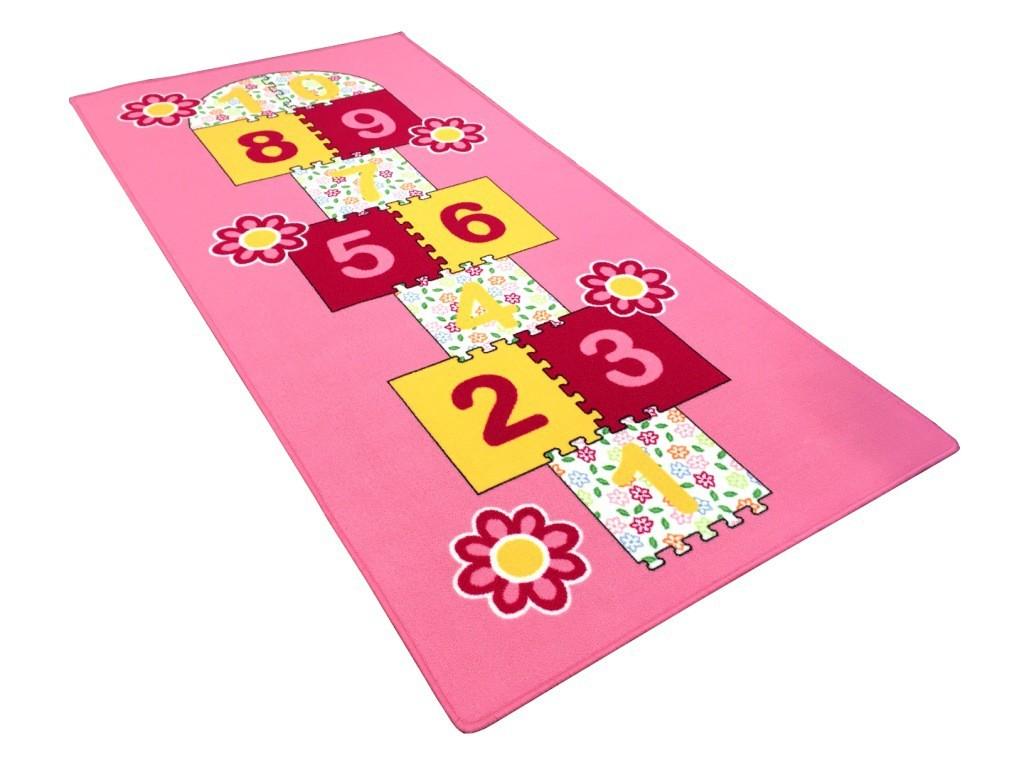 Koberec skákací panák 95x200 cm (růžový)