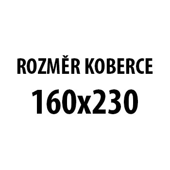 Koberec - Toscana 3130, 160x230 cm (šedočerná)