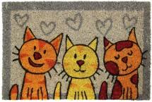 Kokosová rohožka Tři kočky (40x60 cm)