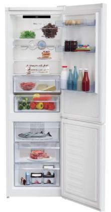 Kombinovaná lednice s mrazákem dole beko mcna366e40w, a+++