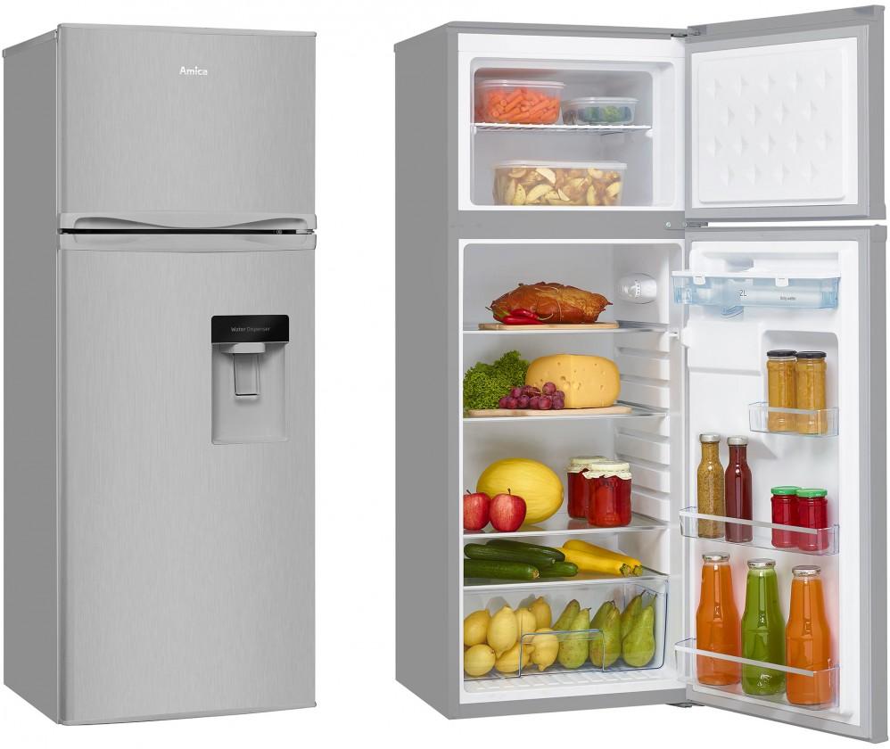 Kombinované lednice Kombinovaná lednice s mrazákem nahoře Amica VD 1441 AWX