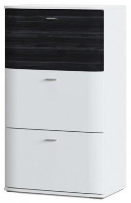 Komoda Denver Typ 05 (bílá artic/černá strukturovaná)