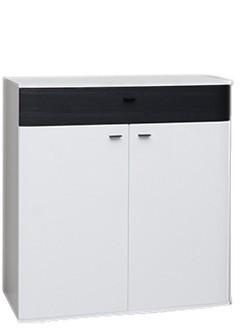 Komoda Denver Typ 06 (bílá artic/černá strukturovaná)