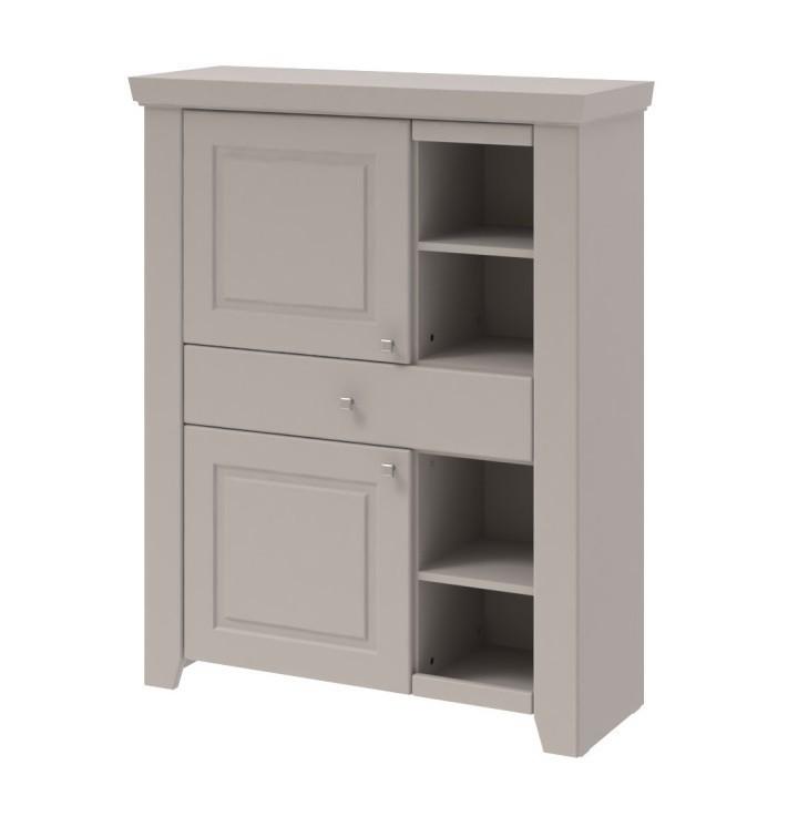Komoda Domi - Skříňka levá, 2x dveře, 1x zásuvka (kašmír)