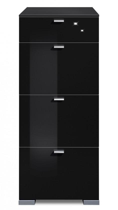 Komoda Gallery HG11 (černá/černý lak HG)