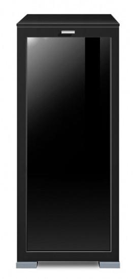 Komoda Gallery Plus 1 (černá/sklo černé)
