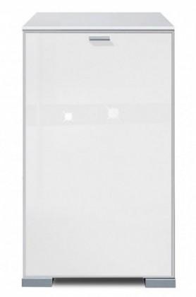 Komoda Gallery Super Plus 11 - Komoda (bílá/sklo číré bílé)