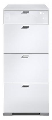 Komoda Gallery Super Plus 2 - Komoda (bílá/sklo číré bílé)