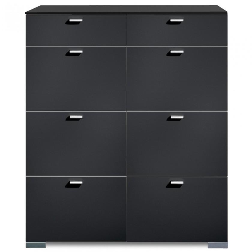 Komoda Gallery9 - Komoda, 100 cm (černá)