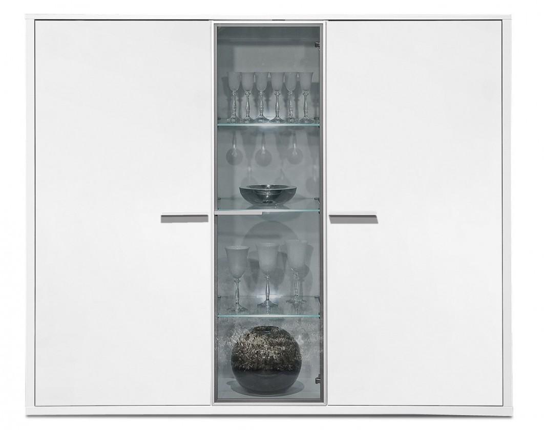 Komoda Game - komoda, 161 cm (bílá/bílá)