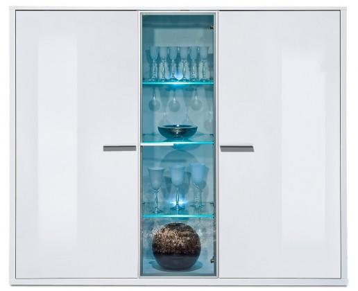 Komoda Game plus - komoda, 161 cm (bílá/bílá lak HG)