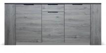 Komoda Glen (3x dveře, figaro, beton)