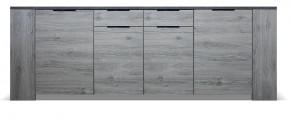 Komoda Glen (4x dveře, 2x zásuvka, figaro, beton)