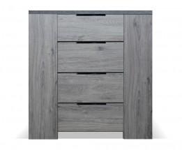 Komoda Glen (4x zásuvka, figaro, beton)