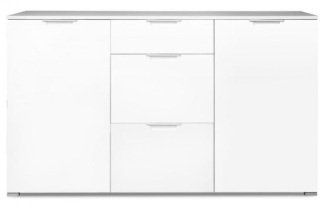 Komoda GW-Event - Skříňka, 3x zásuvka, 2x police, 144 cm (bílá)