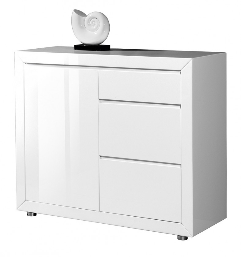 Komoda GW-Fino - Skříňka,1x dveře,3x šuplík (bílá)